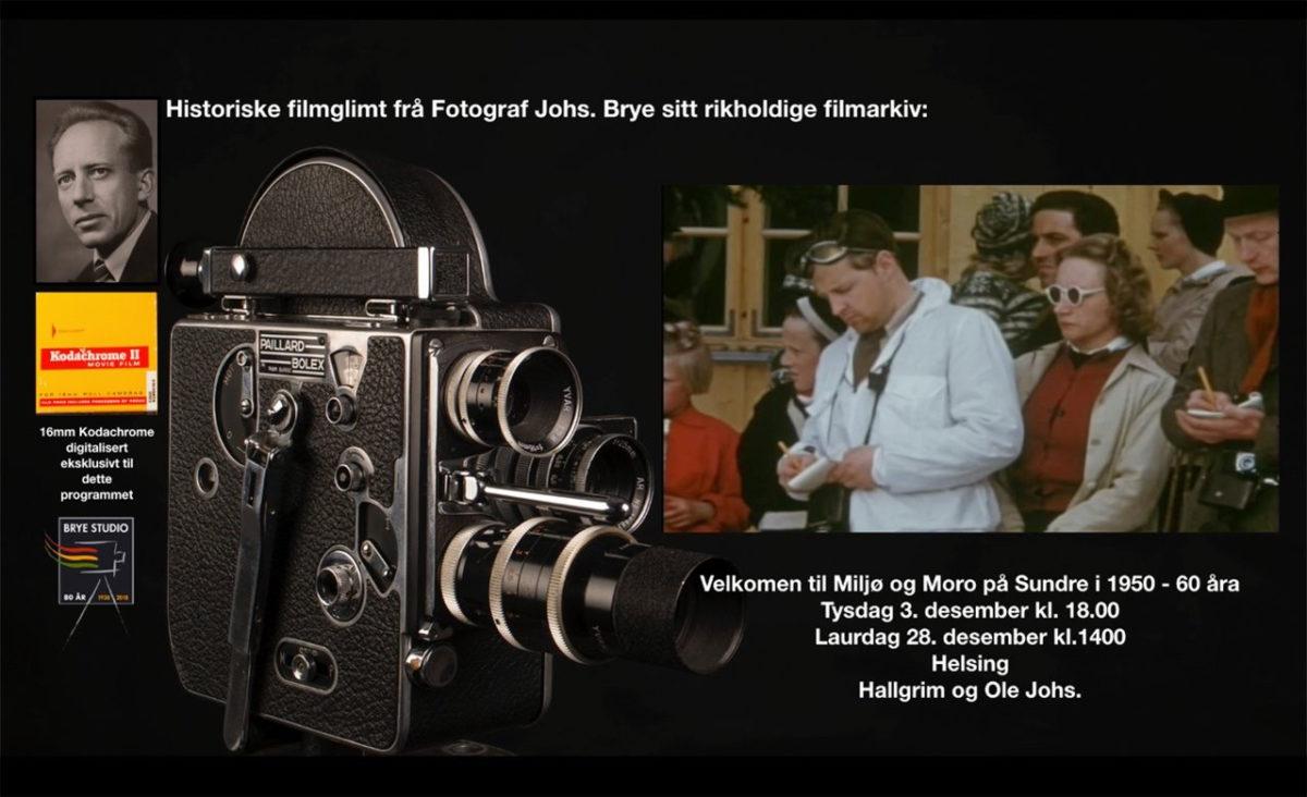 Historiske filmglimt frå fotograf Johs. Brye sitt rikholdige filmarkiv
